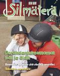 Silmäterä 4/2019 kansi. Kannessa näkövammainen tyttö ratsastuskypärä päässään ja lapsen isä.