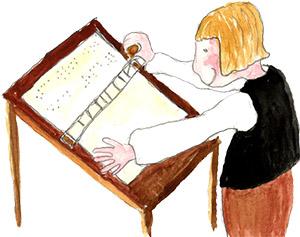 Louis Braille ja pistekirjoitus.