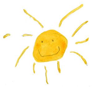 Aurinko paistaa!